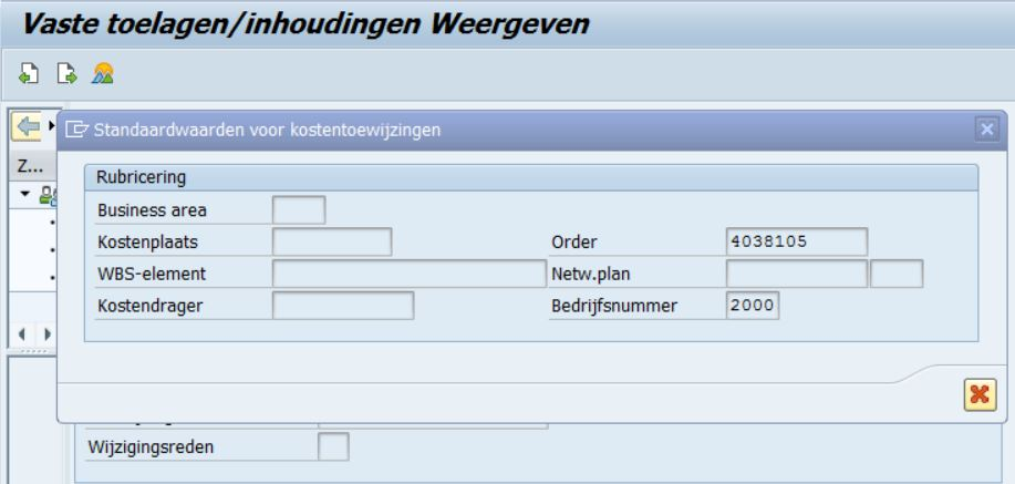How to find order/cost center for SAP HCM infotype 0014/0015