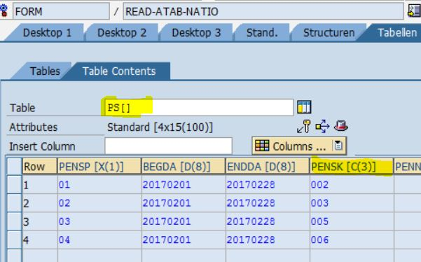 SAP Payroll: TABLE operation for reading NL national
